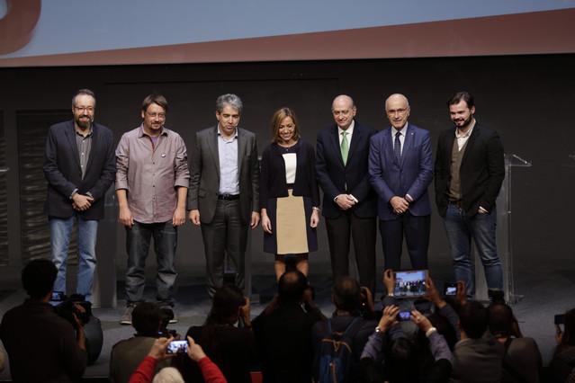 Los candidatos catalanes, en el debate de EL PERIÓDICO, en el CCCB.