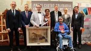 Los ganadores del PremioCiudad Solidaria, en el acto de entrega de los galardones.
