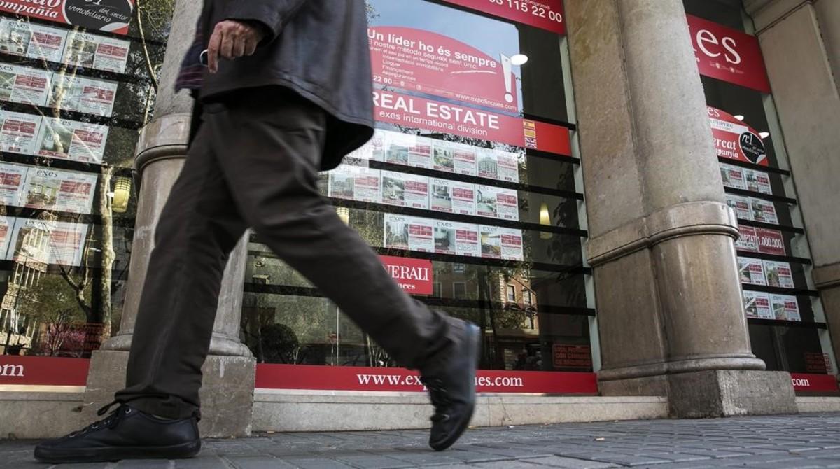 Una inmobiliaria de Barcelona.