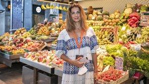 Macarena Rey, CEO de Shine Iberia,el miércoles, en el mercado de la Boqueria de Barcelona.