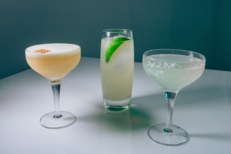 Tres cócteles con tequila.