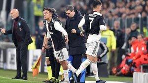 Cristiano y Dybala, durante un Juventus-Milan de la Serie A.