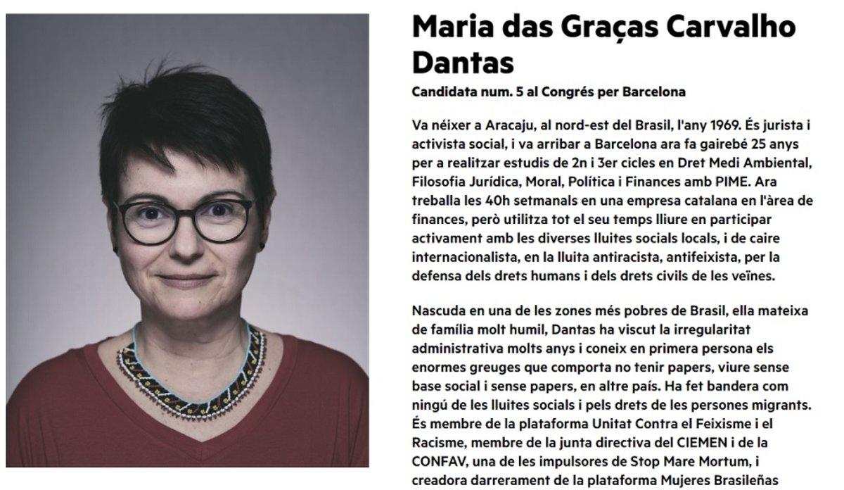 María Carvalho Dantas, vivió más de una década como indocumentada y trabajó como empleada doméstica, niñera y camarera hasta estabilizarse.