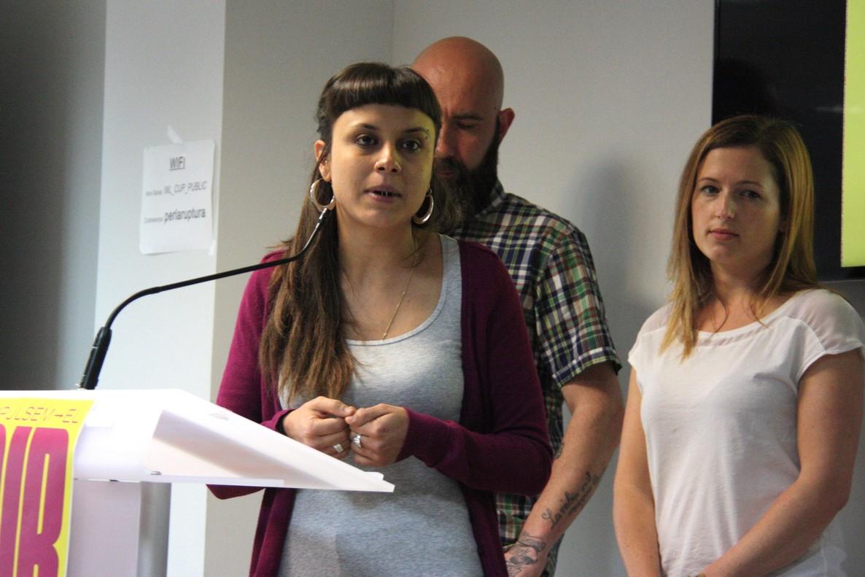 Maria Rovira, durante una rueda de prensa de la CUP, en una imagen de archivo.