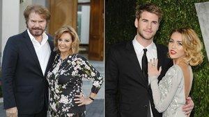 María Teresa Campos y Edmundo 'Bigote' Arrocet, y Miley Cyrus y Liam Hemsworth, dos de las parejas famosas que han roto este 2019.