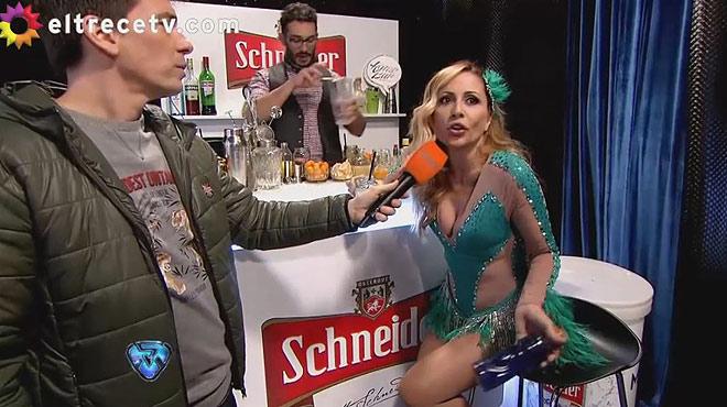 Marta Sánchez abandona enfadada el plató de la versión argentina de Mira quien baila.
