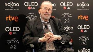 Narciso Ibáñez Serrador, este lunes, en la fiesta de los nominados de los Premios Goya en la que fue homenajeado.