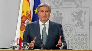 El ministro Íñigo Méndez de Vigo en rueda de prensa.