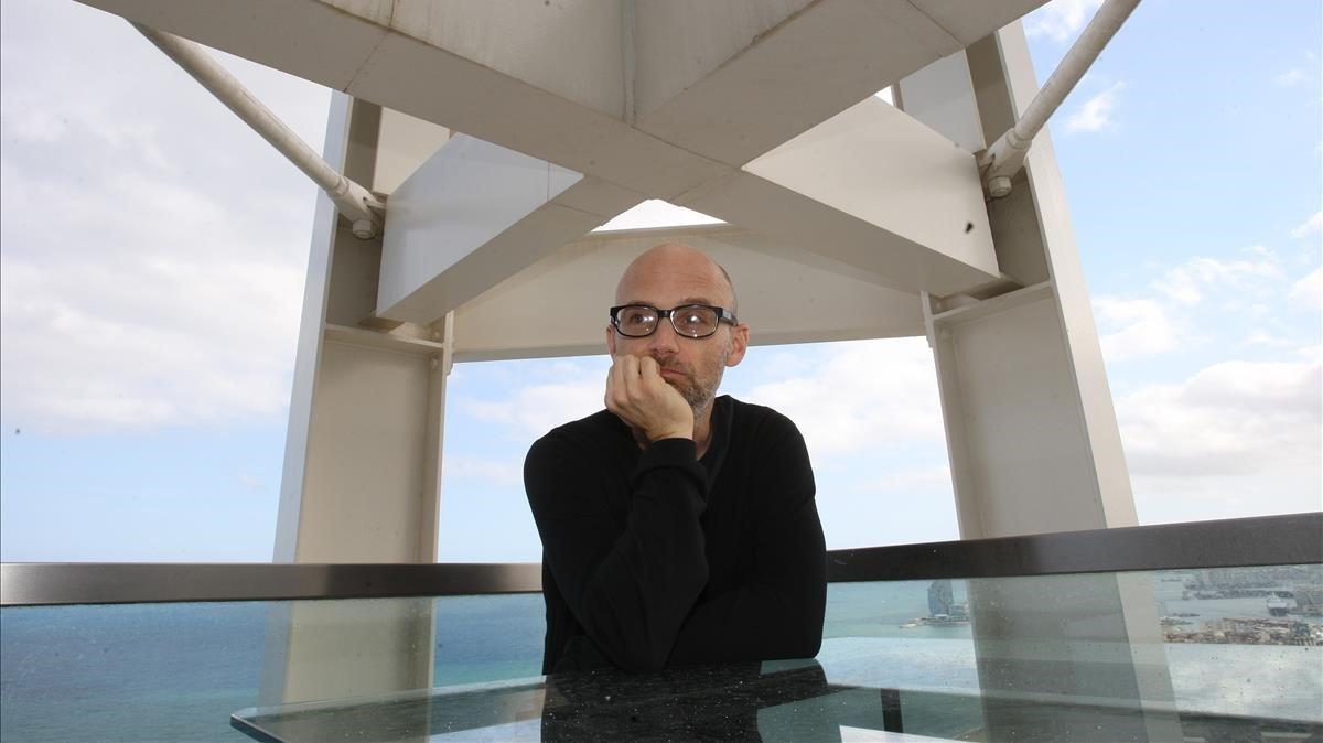 Moby, en el Hotel Arts de Barcelona, en el 2011.