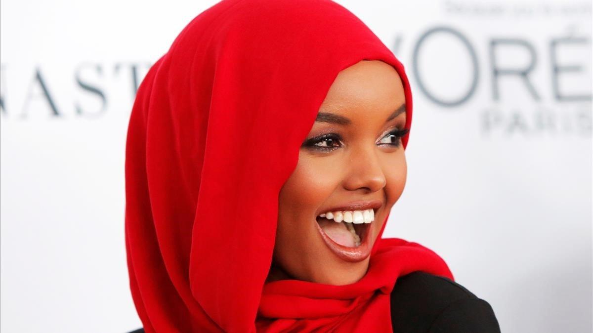 La modelo Halima Aden.