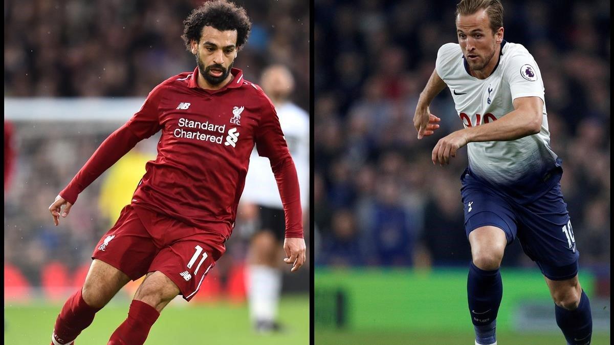 Mohamed Salah y Harry Kane, las figuras del Liverpool y del Tottenham respectivamente.
