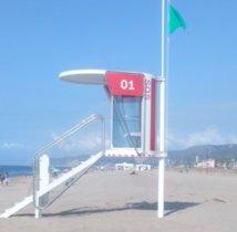 Nueva torre de vigilancia en la playa de Gavà