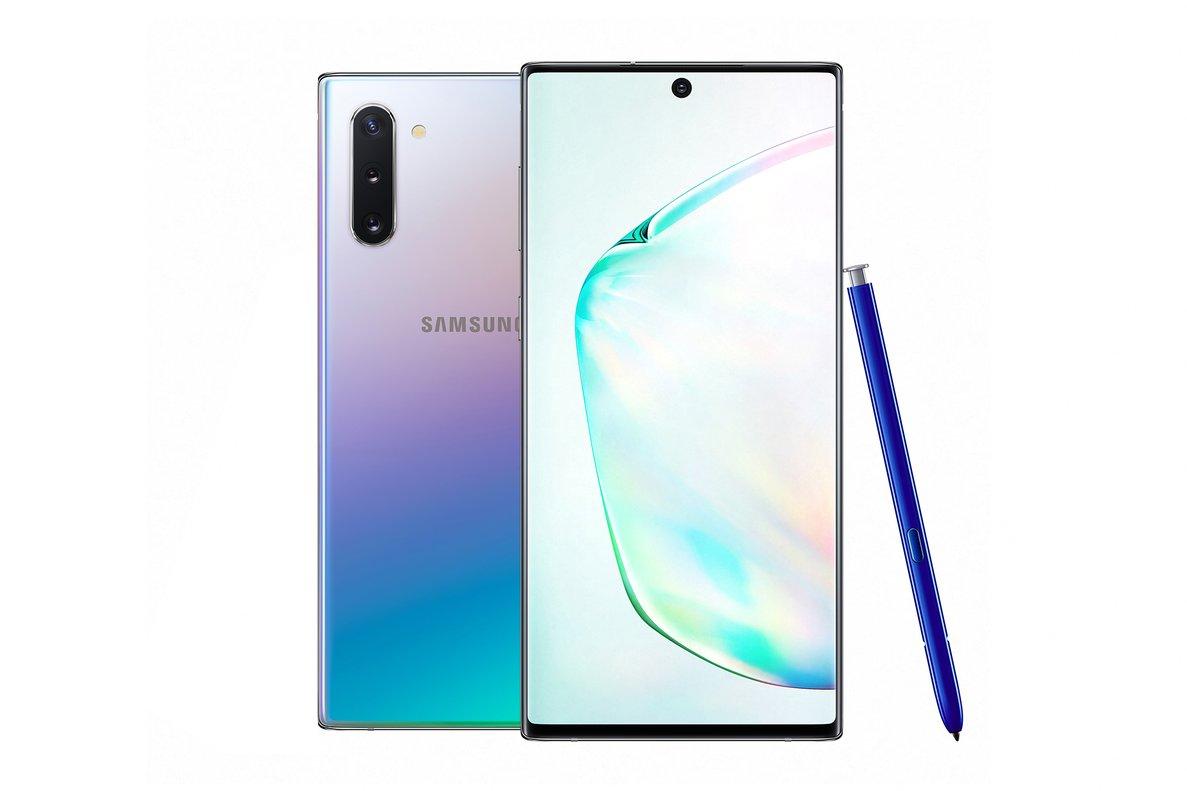 El nuevo Note 10 de Samsung.