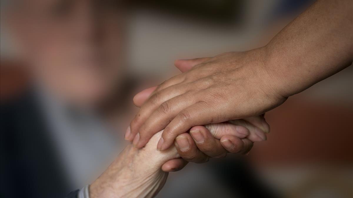 Un paciente con alzhéimer, en una imagen de archivo.