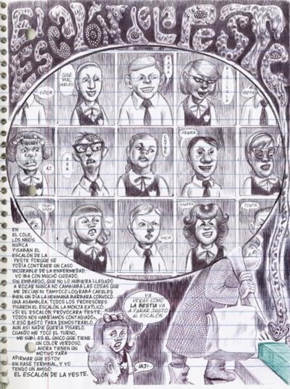 Página de 'Lo que más me gusta son los monstruos', de Emil Ferris.