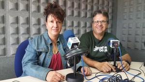 Mercè Alcayna iCarles Font, presentadors de 'Va de comerç'.