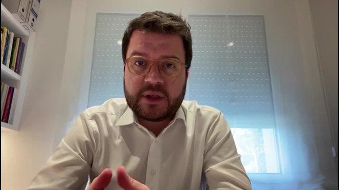 Aragonès: «Reconstruir Catalunya després del virus passarà per un front ampli»