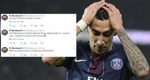 El Barça ha 'anunciado' el fichaje de Di María durante el pirateo de sus cuentas en las redes sociales.