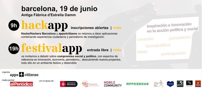 Primer festivalapp en Barcelona organizado por apps4citizens con la colaboración de EL PERIÓDICO