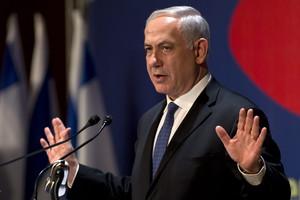 El primer ministro de Israel, Binyamin Netanyahu, durante un encuentro con la prensa internacional, el jueves en Jerusalén.