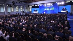 Putin pronuncia su discurso anual sobre el estado de la nación ante las dos cámaras del Parlamento, en Moscú, el 1 de marzo.