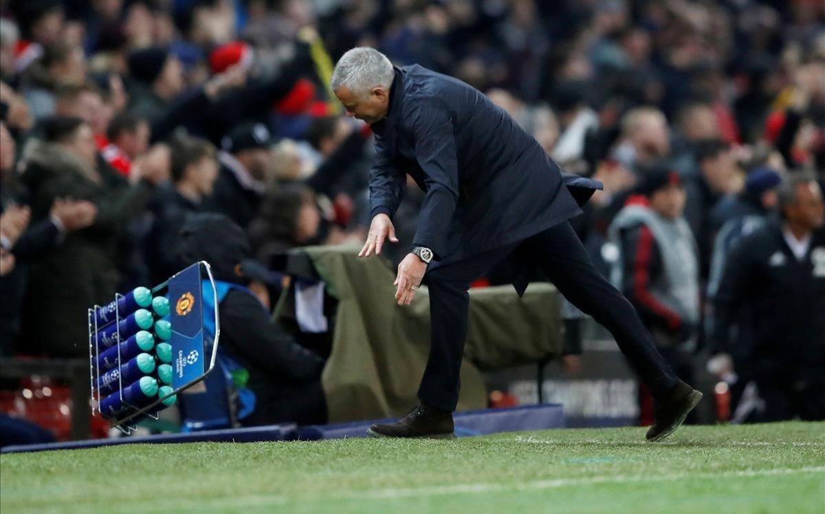La reacción de Jose Mourinho tras el gol del United