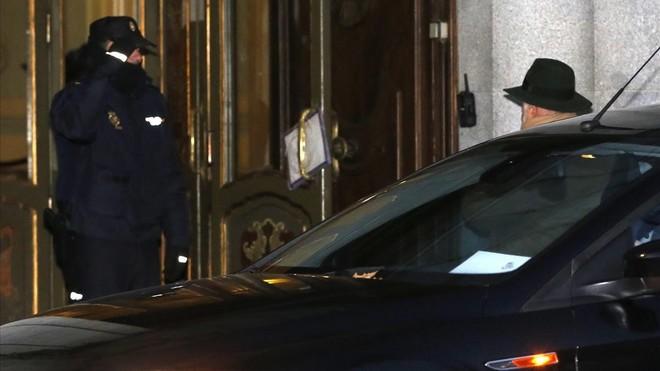 El juez Pablo Llarena, que rechaza excarcelar a los Jordis antes del 11 de enero,a su llegada al Tribunal Supremo