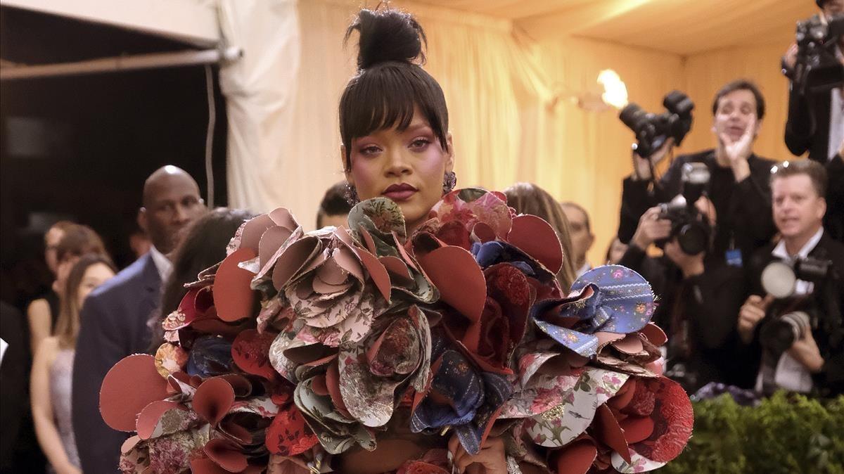 La cantante y diseñadora Rihanna, en la última edición de la gala del Metropolitan Museum de Nueva York.