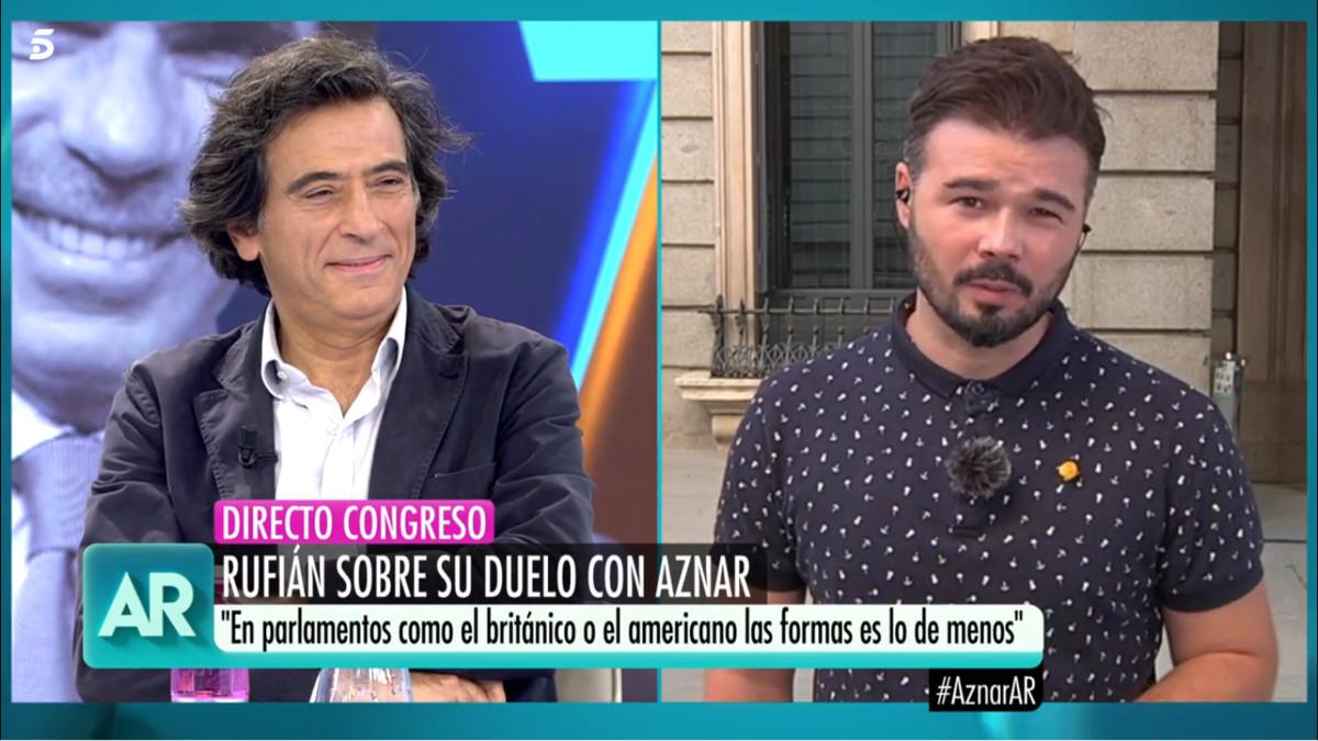 Cruce de dardos en 'AR' entre Gabriel Rufián y Arcadi Espada tras su polémico artículo