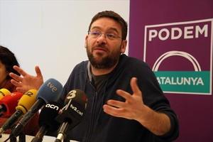 El secretario general de Podem, Albano-Dante Fachin, el 13 de febrero.