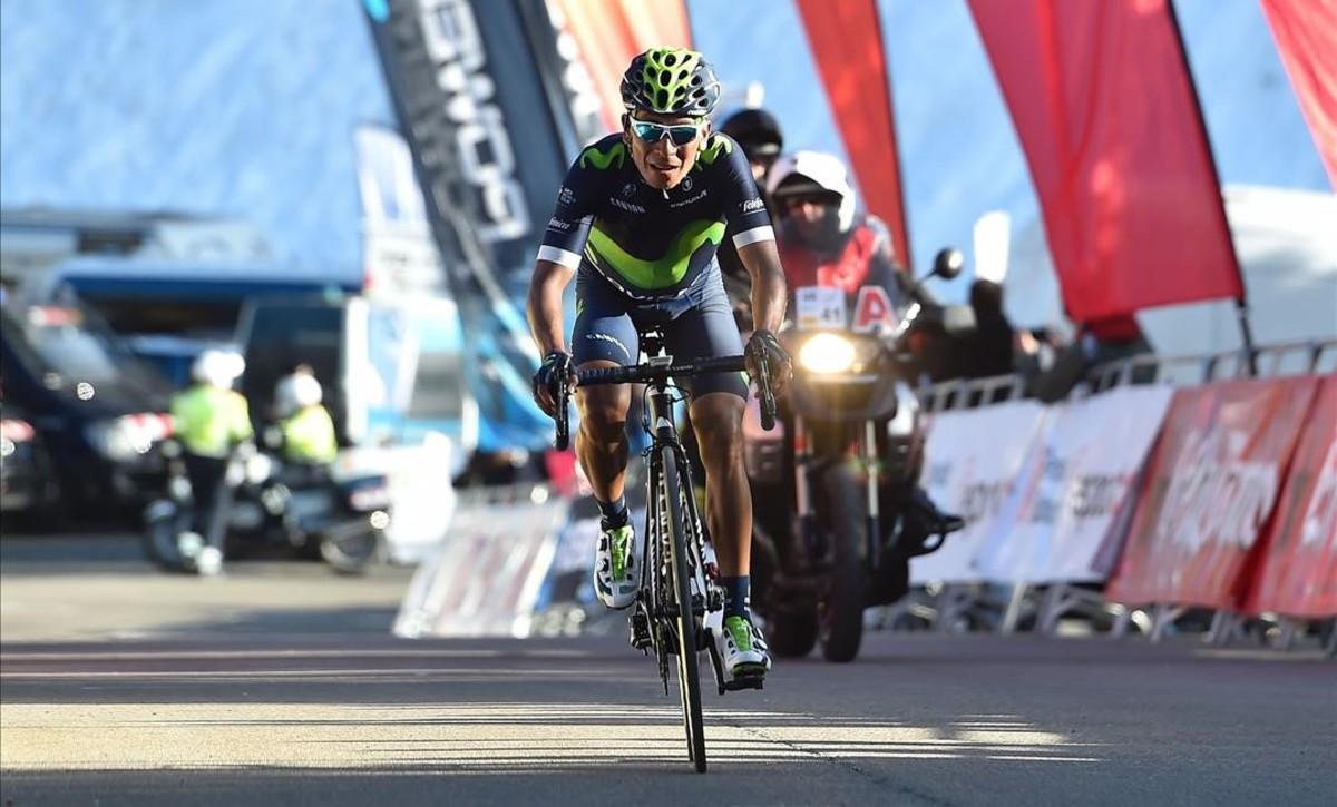 Quintana s'exhibeix davant Contador a Portainé