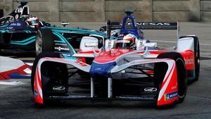 Una carrera de fórmula E en Hong Kong.