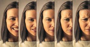Una chica muestra diversas emociones.