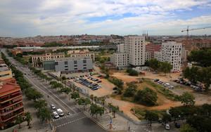 Vista aérea de la zona que ocupaban los antiguos cuarteles de Sant Andreu.