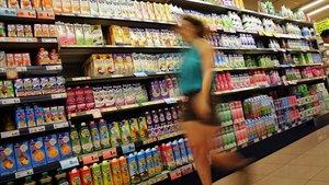 Un supermercado de Barcelona.