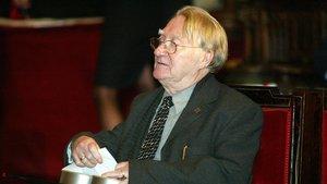 Màrius Sampere, en los Premis Ciutat de Barcelona, el 2003.