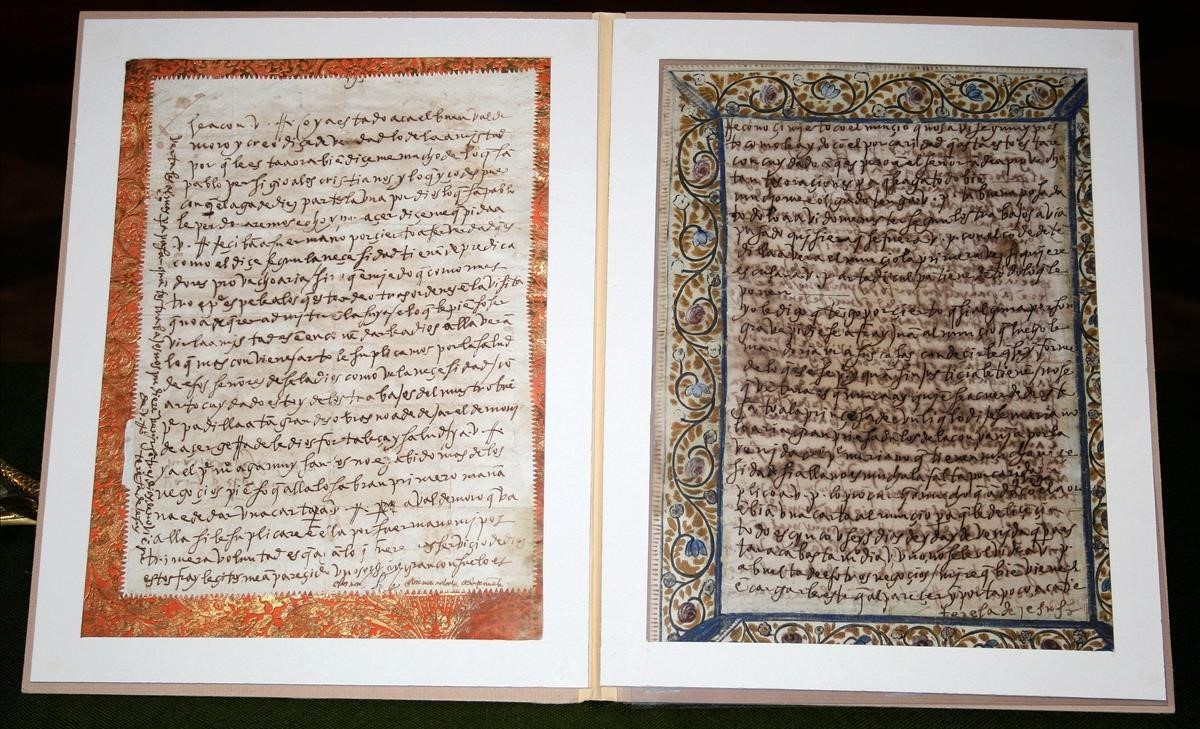 Recuperades per la Guàrdia Civil dues cartes manuscrites de Santa Teresa de Jesús