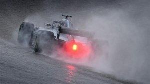 Lewis Hamilton, al volante de su Mercedes en el circuito de las Américas (Austin, Texas).