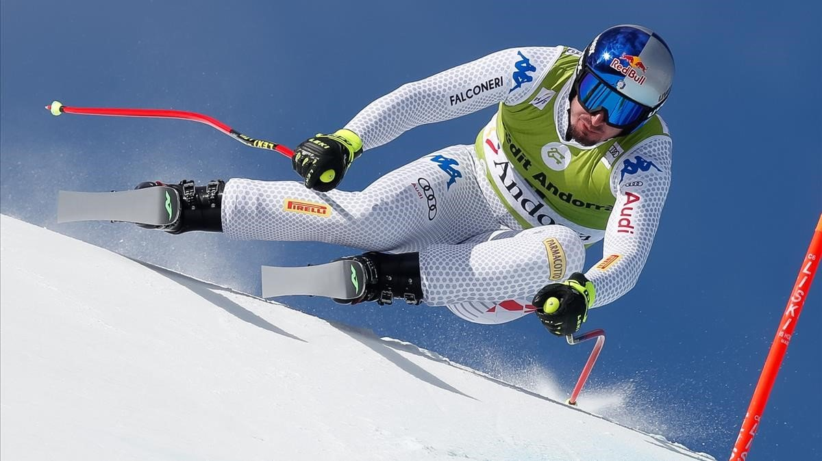 Andorra corona Dominik Paris i Beat Feuz en descens