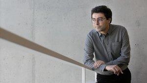 Jordi Nopca, este martes en la biblioteca Agustí Centelles de Barcelona.