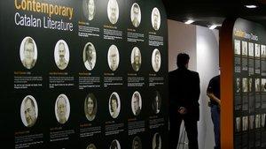 Estand del Institut Ramon Llull en la Feria del libro de Fráncfort, en el 2007.