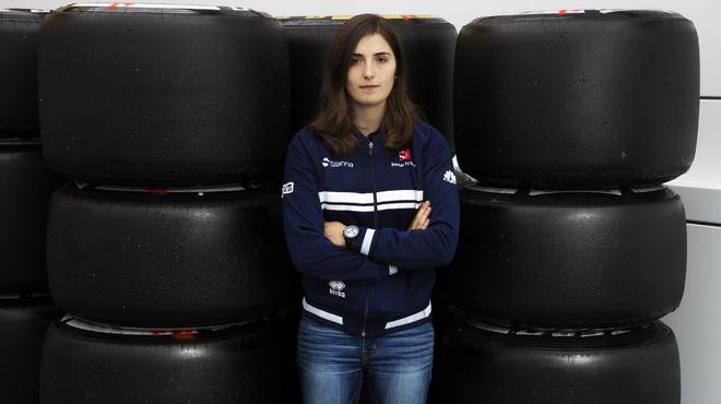 Tatiana Calderón, pilot de desenvolupament en el Team Sauber de F-1