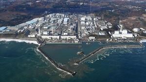 Vista aérea de la central de Fukushima, en una imagen de archivo, del 22 de noviembre del 2016.