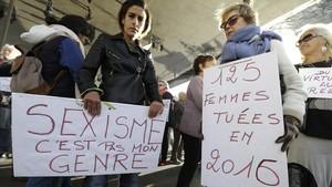 Manifestantes Marsella MeToo
