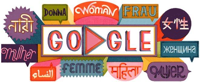 Doodle de Google dedicado al Día Internacional de la Mujer