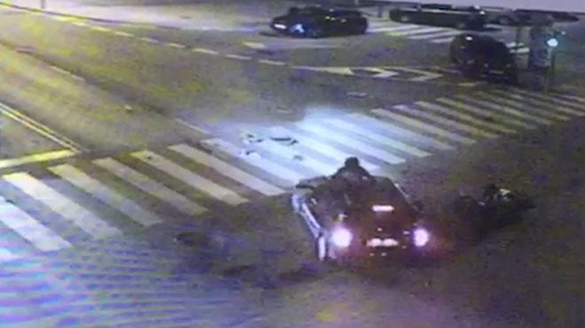 Vídeo de l'accident del regidor de Gavà que va dimitir després de donar positiu en alcohol