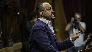 Alejandro Fernández, en el Parlament.