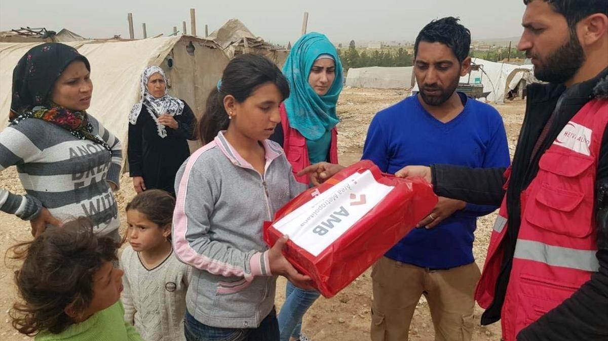 El AMB colabora con las ayudas para la emergencia humanitaria en el Kurdistán sirio.