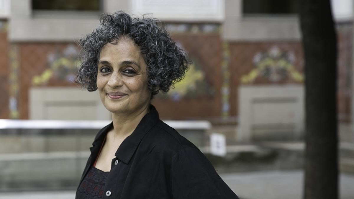 Arundhati Roy en su visita al CCCB.