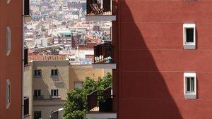 Bloques de pisos en Horta.